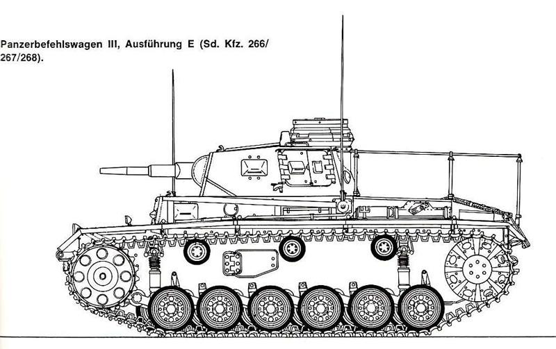Panzerbefehlswagen III Ausf E de Rommel? Panzii10