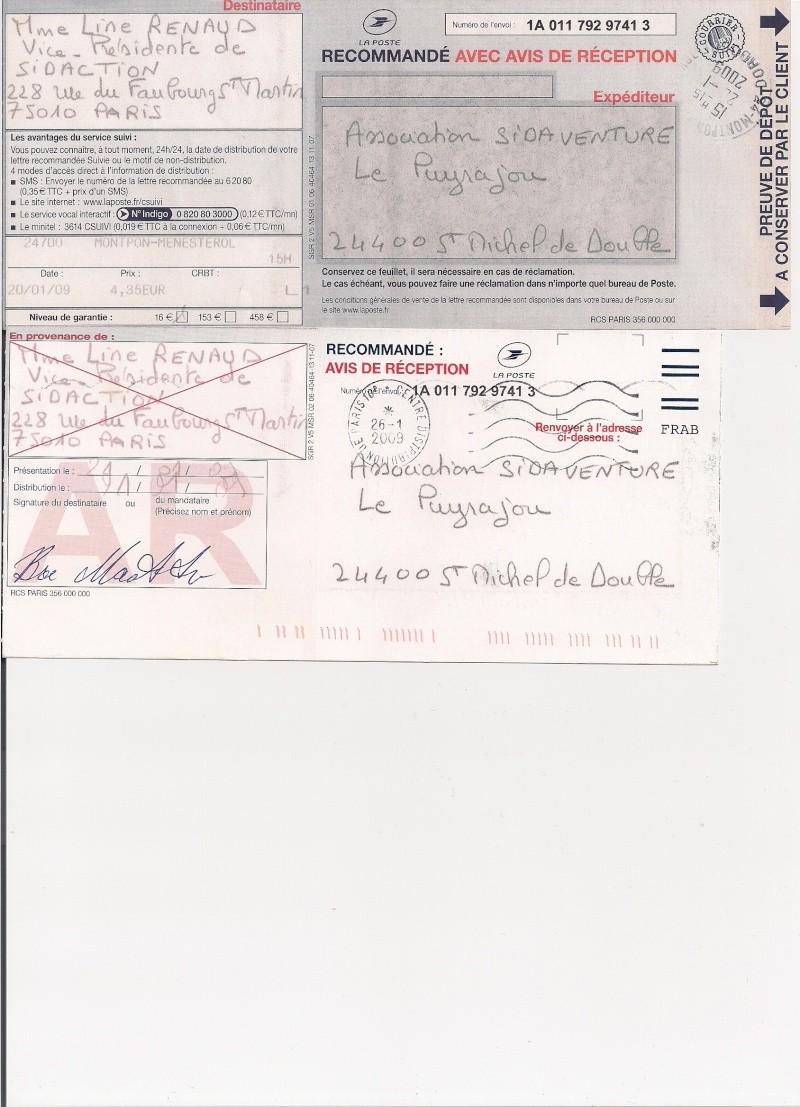 Copie du courrier envoyé à Mr Bergé président de Sidaction Sidact13