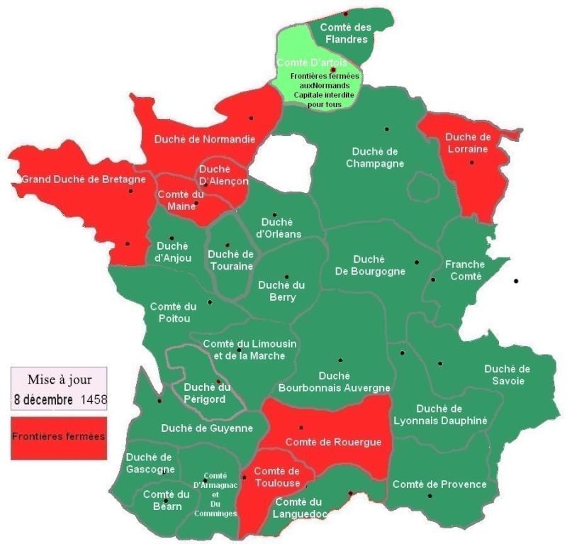 Carte de fermeture des frontières au 8 décembre 1458 Carte_23
