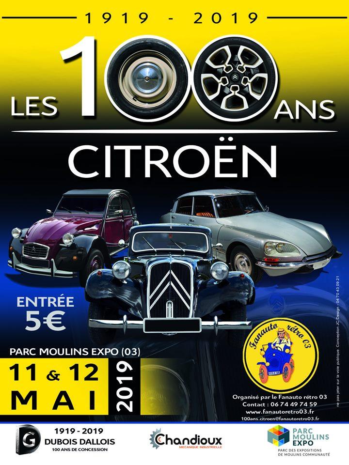 """Les"""" 100 ans Citroen"""" parc expo de Moulins 11, 12 mai 2019 58755010"""