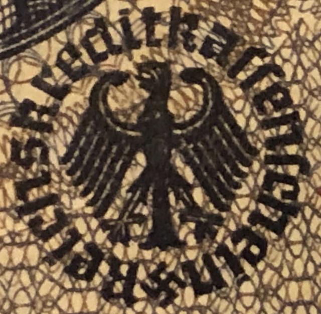 Billet de 5 mark de La caisse de crédit du Reich  3842a010