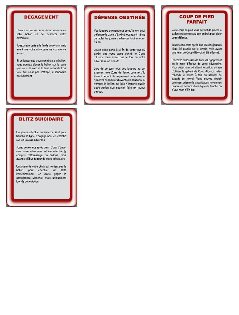 Les cartes spéciales Action10