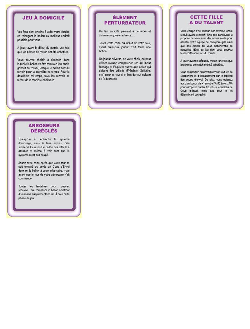 Les cartes spéciales Incide10