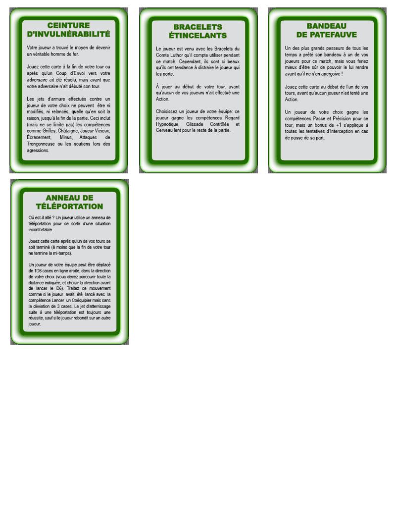 Les cartes spéciales Objets10