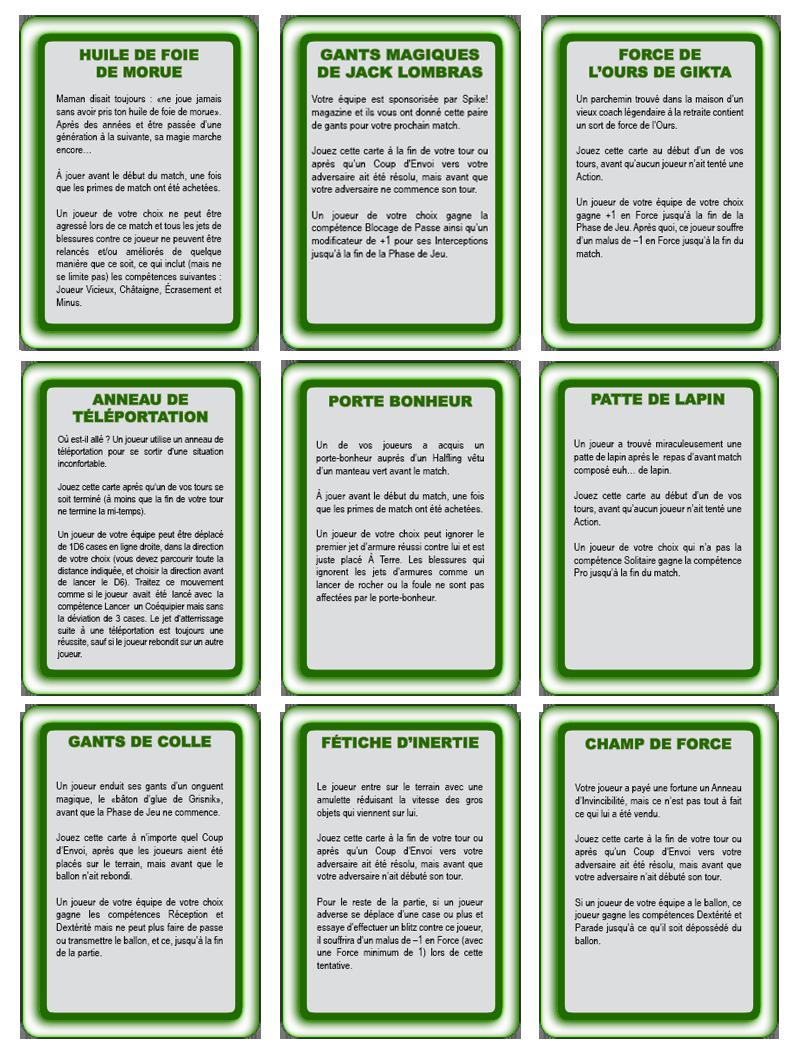 Les cartes spéciales Objets11