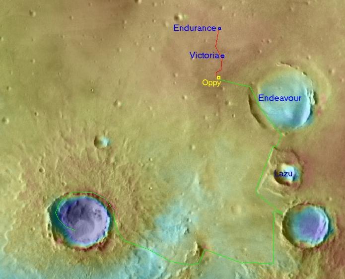 Opportunity va explorer le cratère Endeavour - Page 6 Oppy310