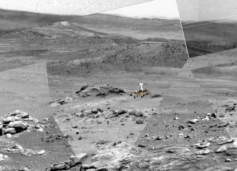 """Spirit découvre un """"nid"""" de carbonates sur Mars Spirit12"""