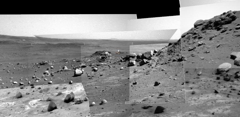 """Spirit découvre un """"nid"""" de carbonates sur Mars Spirit13"""