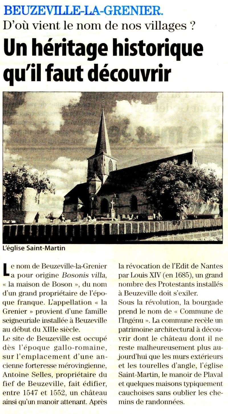 Beuzeville-la-Grenier - D'où vient le nom du village ? 2010-021