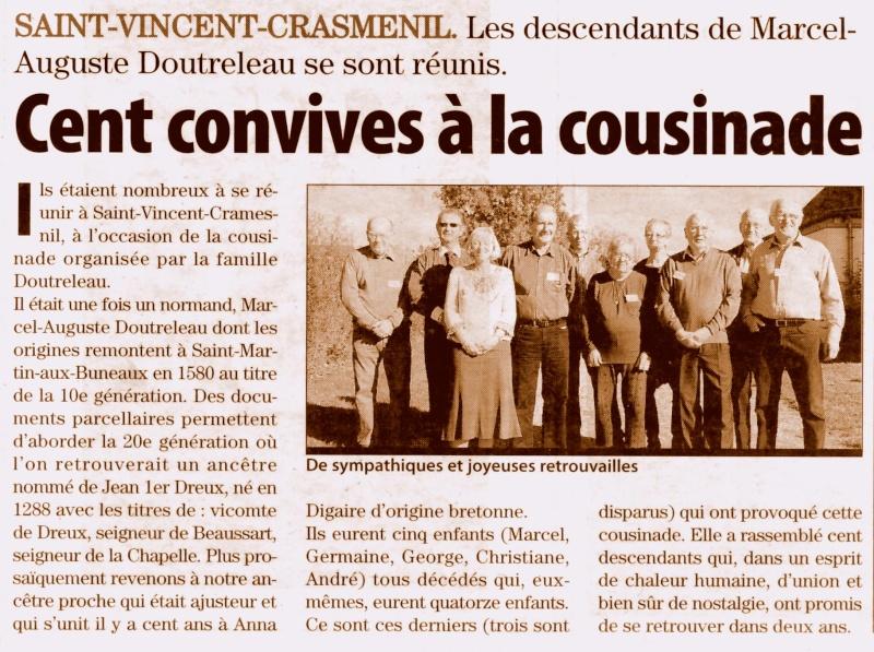 Saint - Saint-Vincent-Cramesnil - Cousinade DOUTRELEAU 2010-113