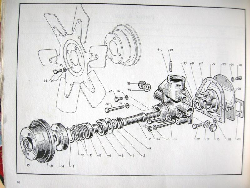 pompe à eau moteur perkins 4192 Pompe_11