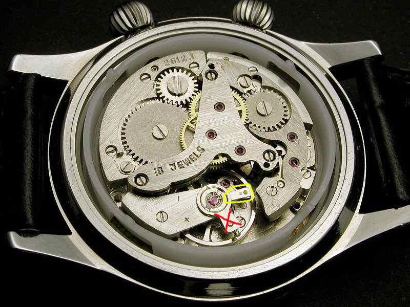 Appareil pour régler une montre mécanique 261210