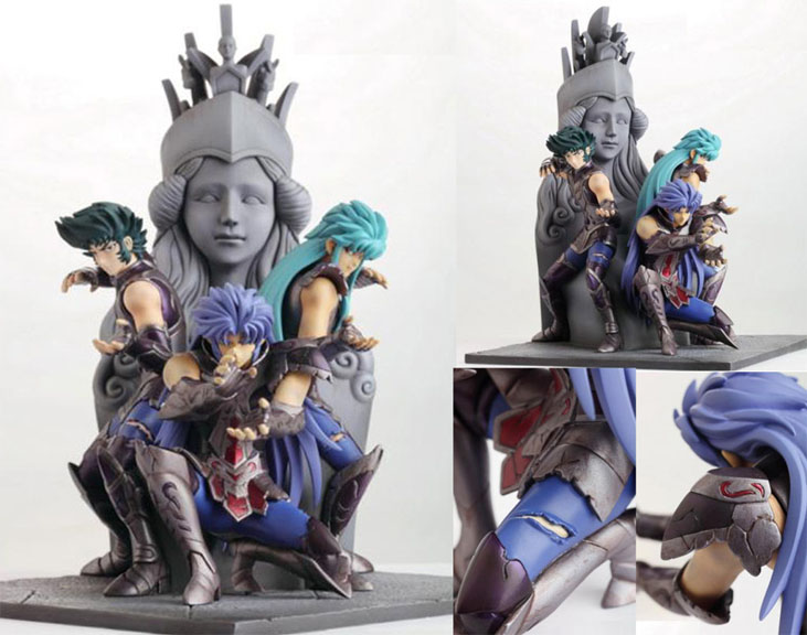 Statue Résine Saint Seiya: Athena Exclamation Attack Saints14