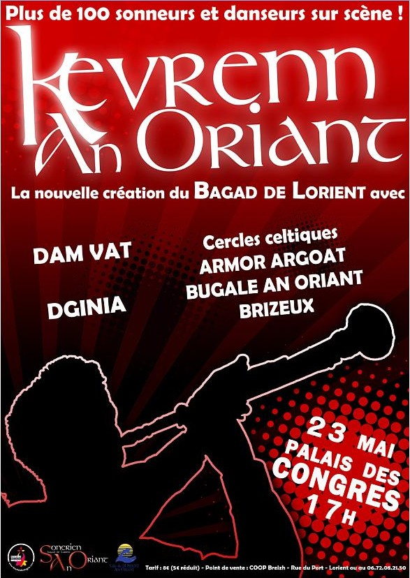 Spectacle du bagad de Lorient Kevren10