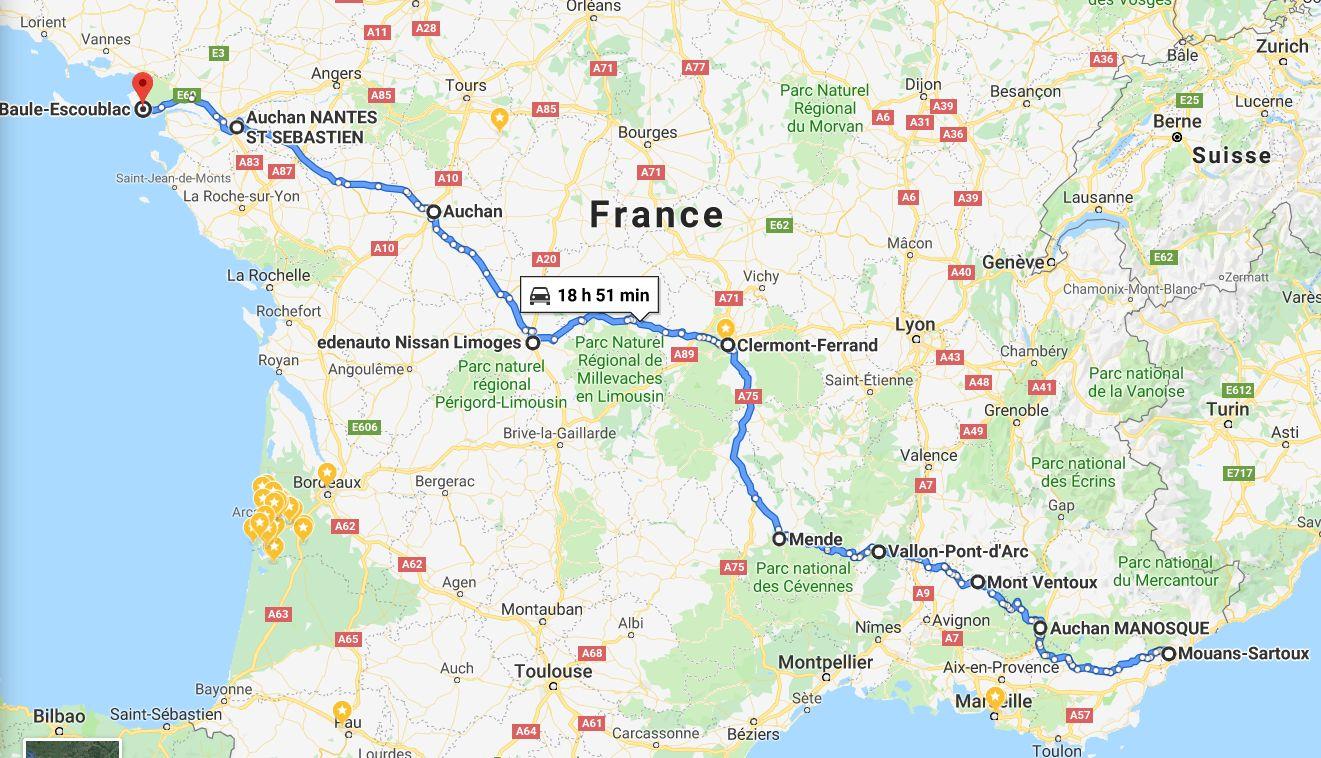 EvTrip convoyage ZOE de Grasse à Nantes Mlb10