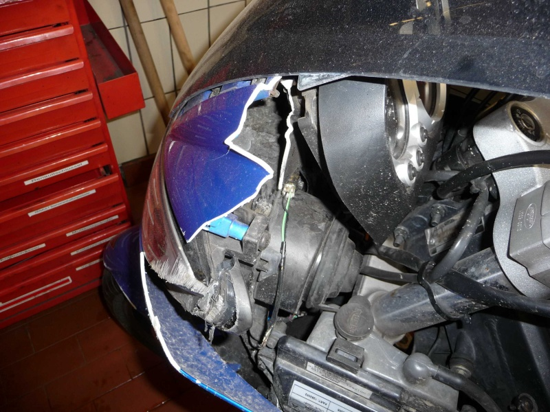 Rainer (Sprint ST) hatte einen Unfall P1000914