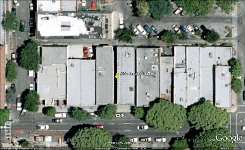 Murs de chewing gums à San Luis Obispo, Californie - USA Chewi010