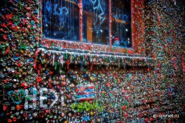 Murs de chewing gums à San Luis Obispo, Californie - USA Chewi310