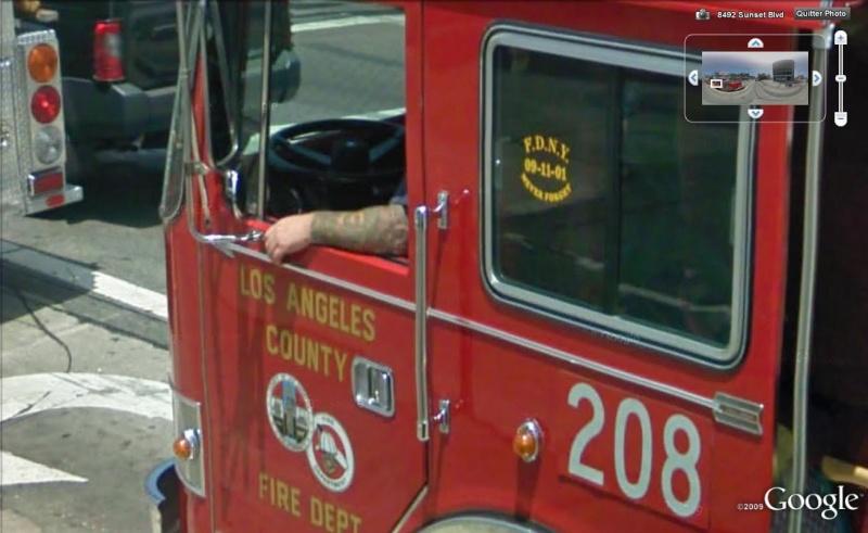 STREET VIEW : les camions de pompiers  Pompie14