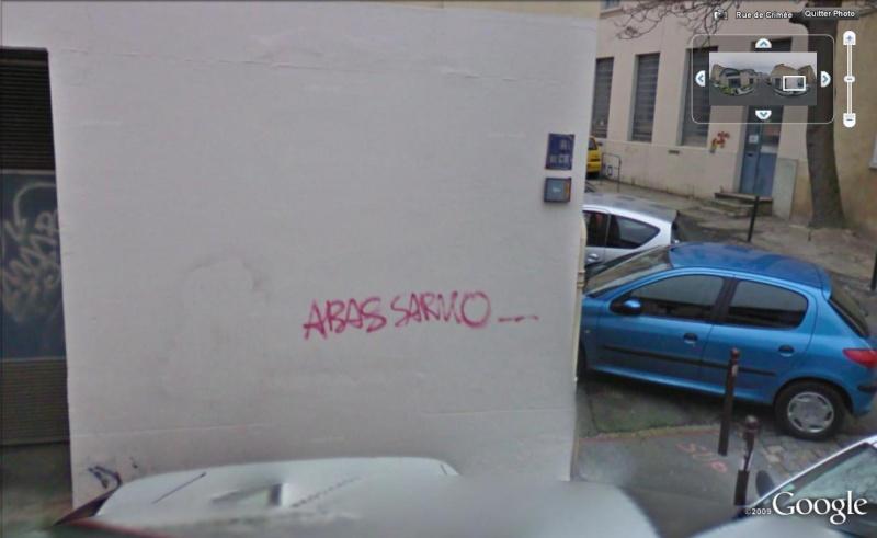 STREET VIEW : Les tags en tout genre Sarko10