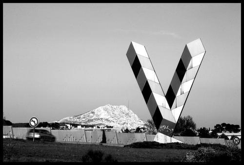 """Lettres géantes """"W et V"""" Vaza10"""