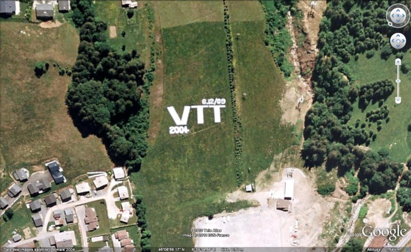 "Ecriture ""VTT 2004"", Les Gets, Haute-Savoie, France, Europe Vtt10"