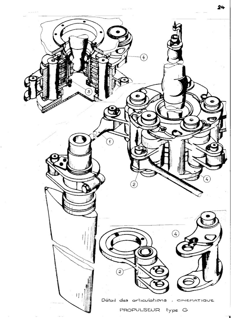 Propulseur cycloïdal -  Système Voight-Schneider  02010