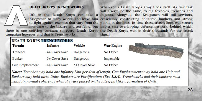 Fortifications : Iron Warriors, Impérial Fist, DkoK... Trench10