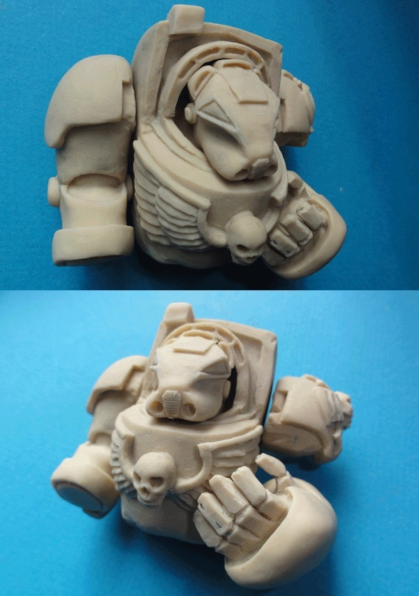 (denis simon) Buste de terminator Warhammer  40000 M113