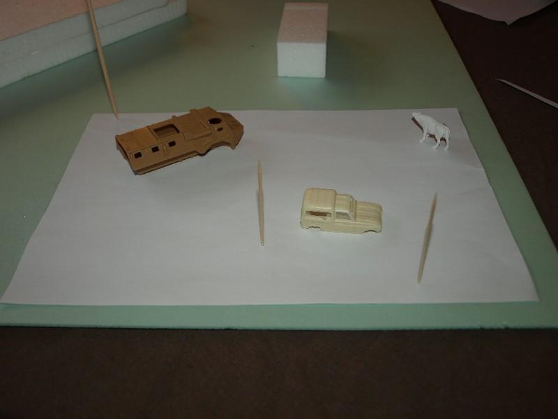 Construction d'un diorama : une route de campagne. C'est fini. P1016118