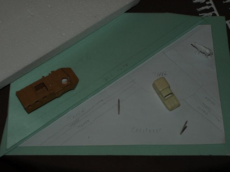 Construction d'un diorama : une route de campagne. C'est fini. P1016120