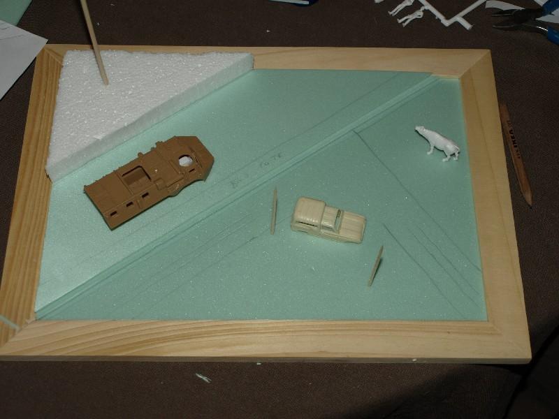 Construction d'un diorama : une route de campagne. C'est fini. P1016123