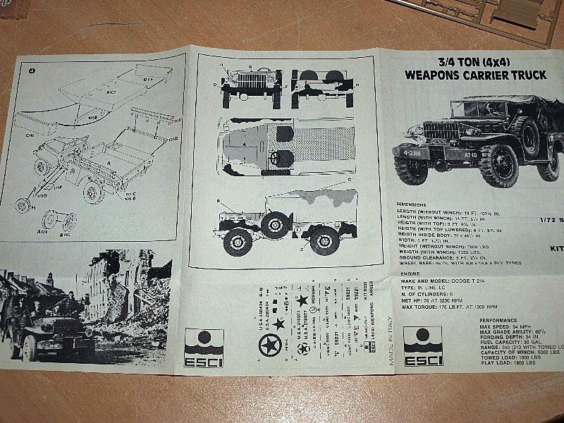 Dodge WC 52 Indochine [ESCI] 1/72 P1017224