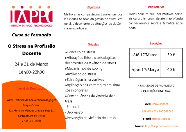 O STRESS NA PROFISSÃO DOCENTE Iappc_10