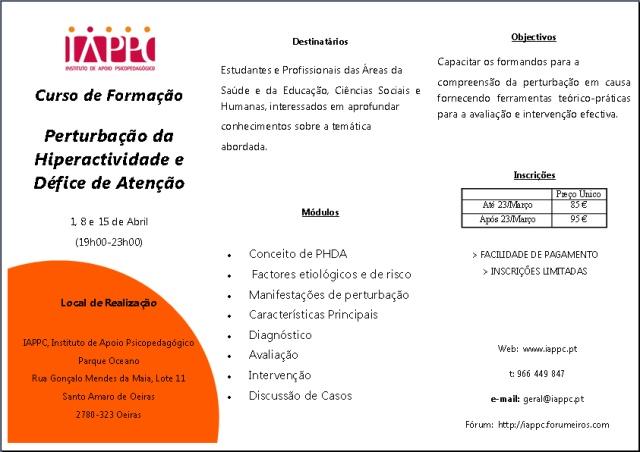 PERTURBAÇÃO DA HIPERACTIVIDADE E DÉFICE DE ATENÇÃO Iappc_11
