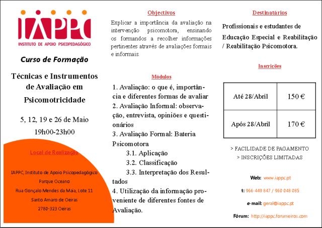 TÉCNICAS E INSTRUMENTOS DE AVALIAÇÃO EM PSICOMOTRICIDADE Iappc_12