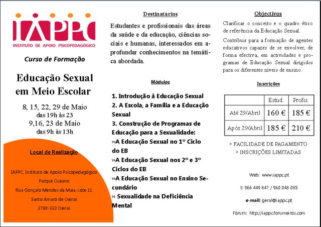 EDUCAÇÃO SEXUAL EM MEIO ESCOLAR Iappc_16