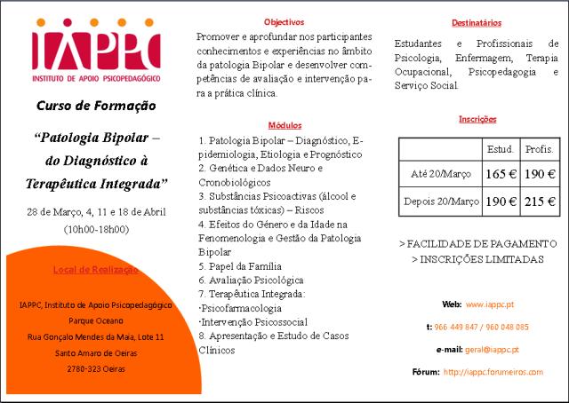 PATOLOGIA BIPOLAR: DO DIAGNÓSTICO À TERAPÊUTICA INTEGRADA Iappc_19