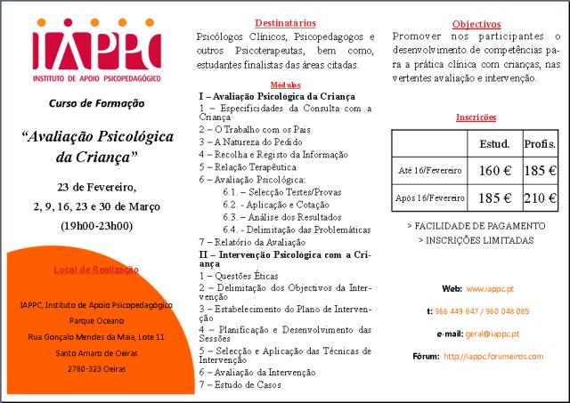 AVALIAÇÃO PSICOLÓGICA DA CRIANÇA Iappc_25