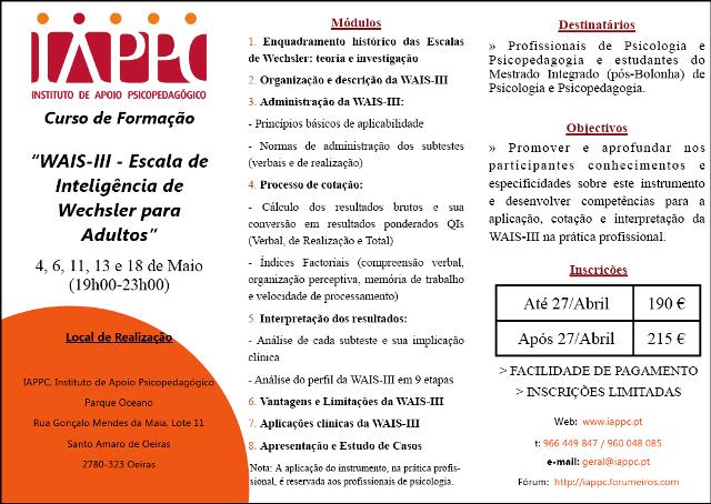 WAIS-III - ESCALA DE INTELIGÊNCIA DE WECHSLER PARA ADULTOS Wais_i10