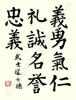 Définition d'un Art Martial, du bushido et du budô Seven-10