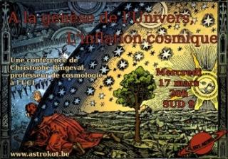 [Conférence] Mercredi 17 mars : A la genèse de l'Univers, l'inflation cosmique Inflat10