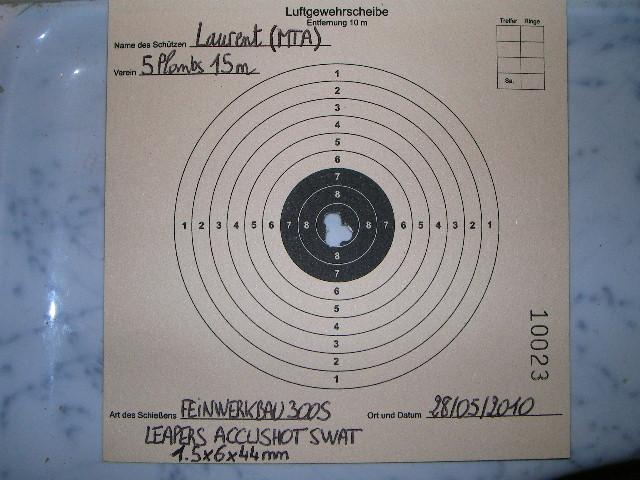 FEINWERKBAU 300S Kit MACCARI Lunette LUGER LR 8-32X44 Target Dot - Page 2 Sany0215