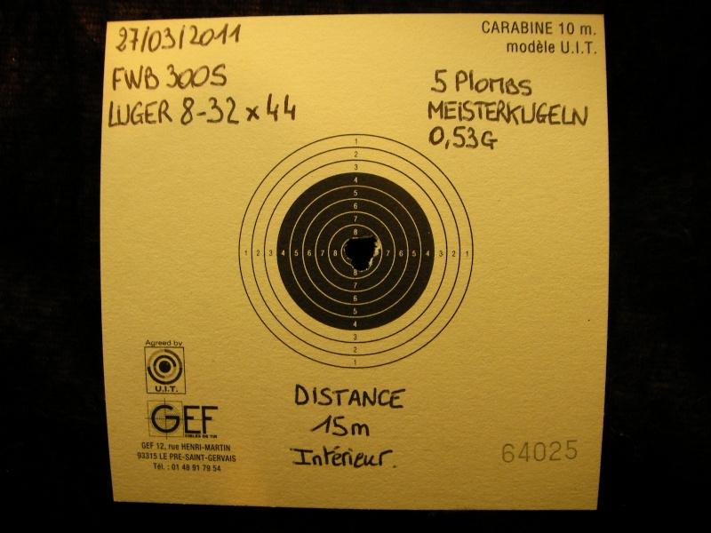 FEINWERKBAU 300S Kit MACCARI Lunette LUGER LR 8-32X44 Target Dot - Page 4 Sany0428