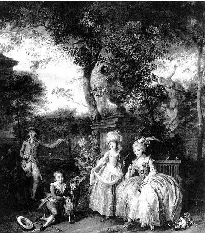 Portraits de Marie Antoinette avec ses enfants Muys10