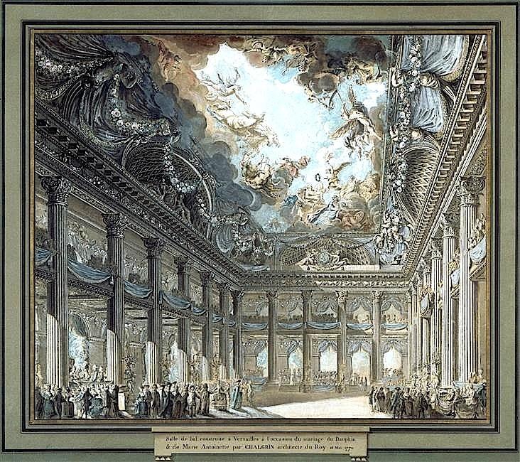 Le mariage de Louis XVI et Marie-Antoinette  - Page 11 Salle_10
