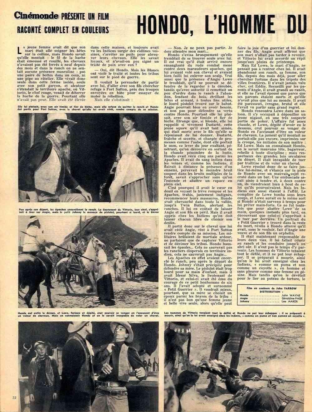 Hondo, l'Homme du Désert - Hondo - 1955 Fax_so98