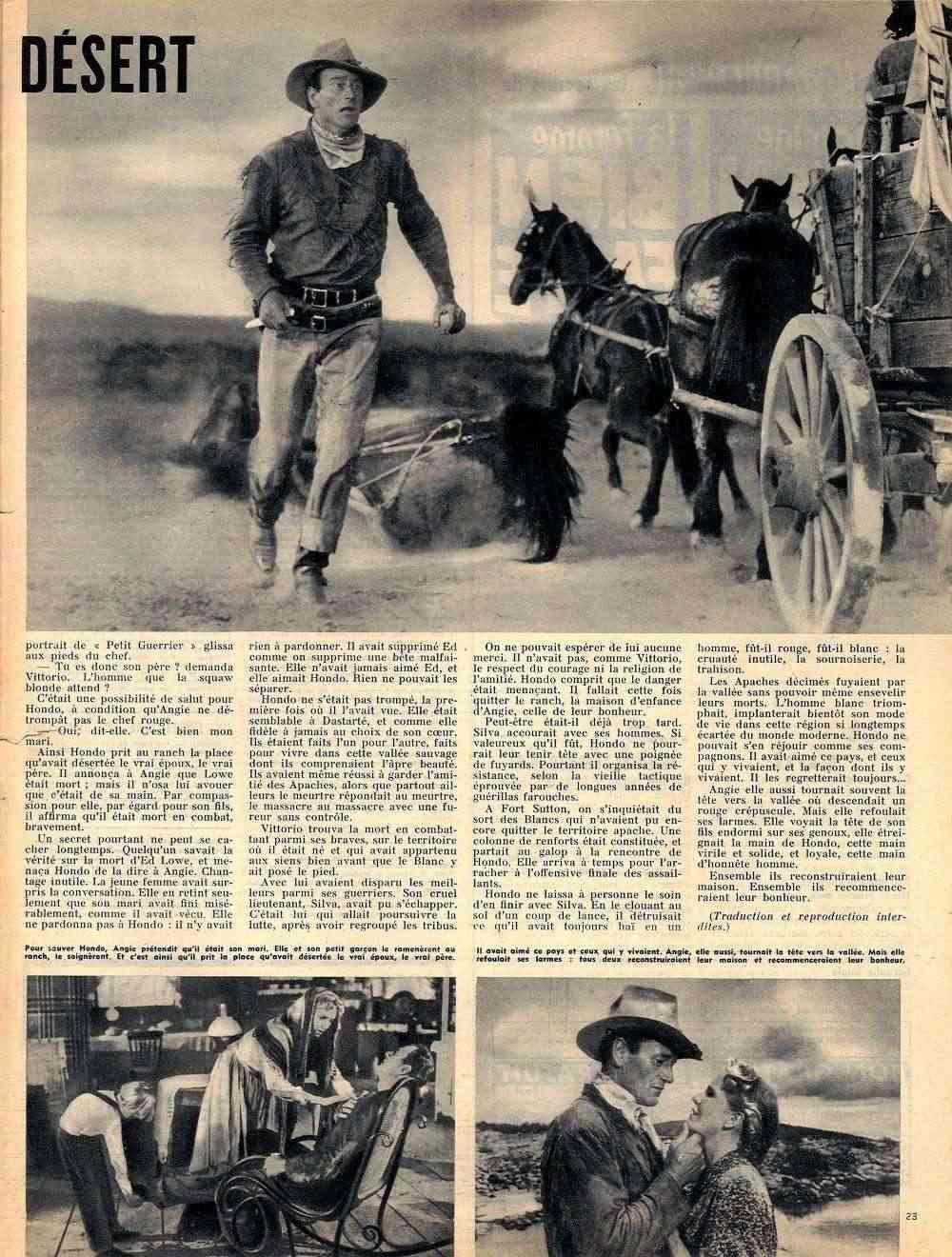 Hondo, l'Homme du Désert - Hondo - 1955 Fax_so99