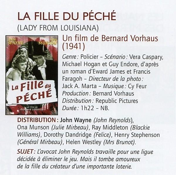 La Fille du Péché - Lady From Louisiana - 1941 Wayne836