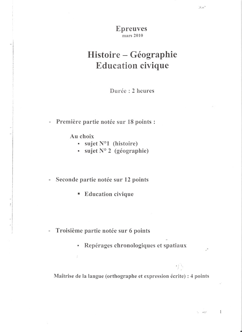 Questions d'examen de géographie ? Numari11